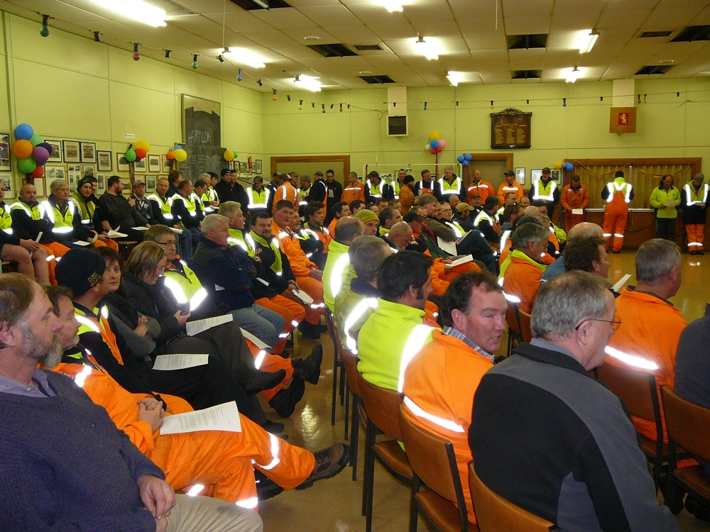 Port Chalmers stopwork meeting, 12 August 2009